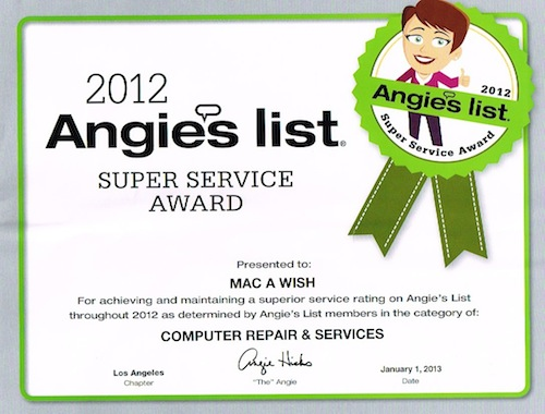 ANGIE&#8217;S LIST SUPER SERVICE AWARD WINNER!!